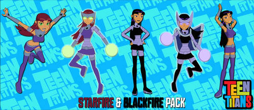 Teen Titans Pack1: Starfire and Blackfire FOR XPS