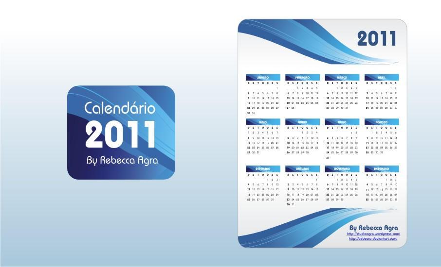 2011 Vector Calendar EPS by Bebecca