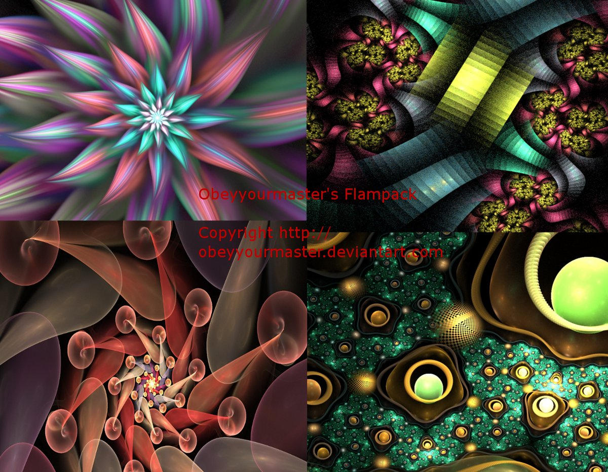Various fractal flamepack by obeyyourmaster
