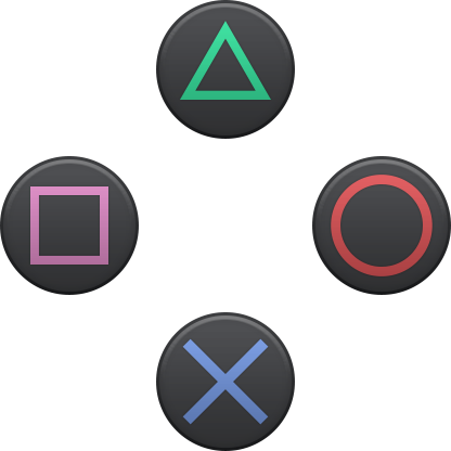 Vector PlayStation buttons