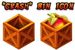 Crash Bandicoot themed trash bin icons by TxusMetal4ever