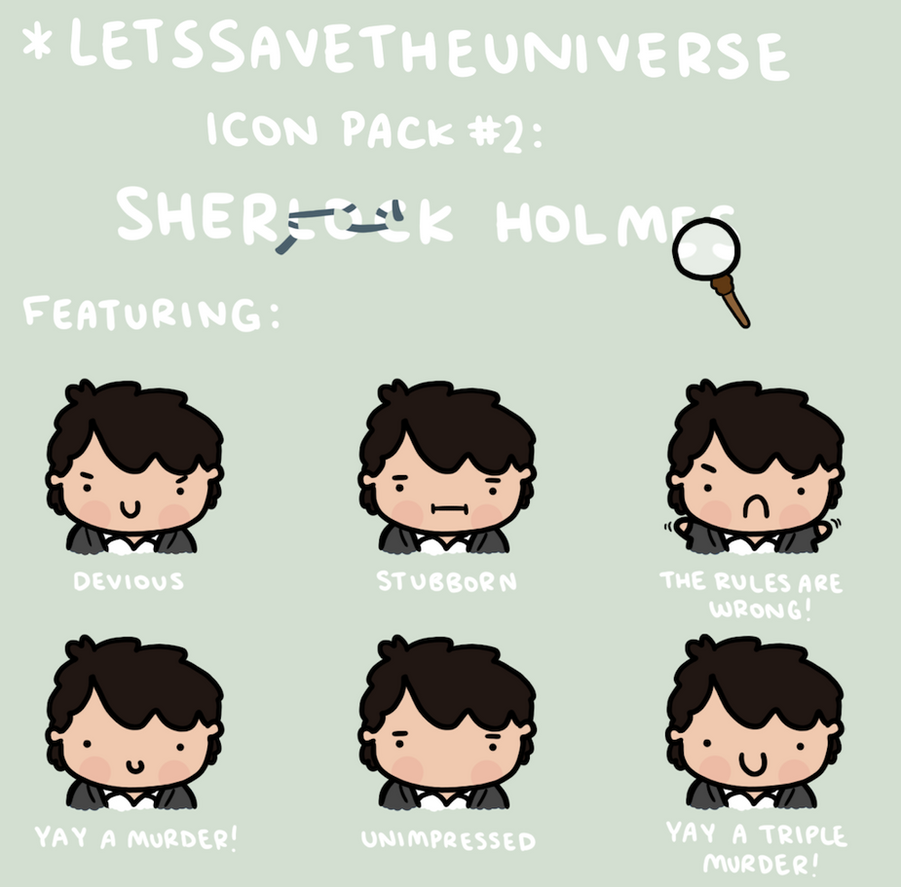 Sherlock Holmes Icon Pack by LetsSaveTheUniverse