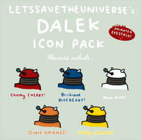 Dalek Icon Pack by LetsSaveTheUniverse