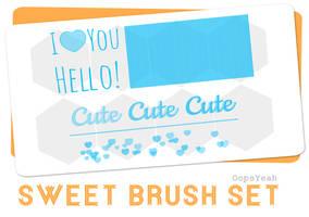 Sweet Brush Set by OopsYeah