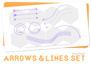 Arrows and Lines Brush Set