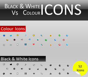 Black And White Vs Color Icons