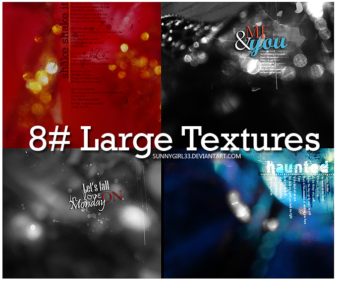 8 large Textures by SunnyGirl33
