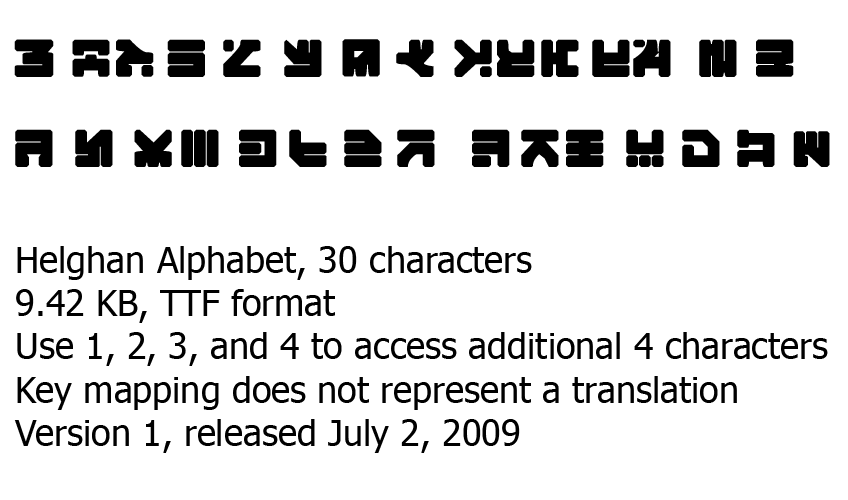 Helghan Alphabet Font - TTF by Colin-Kirby