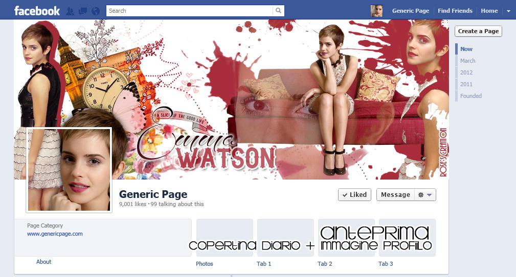 Timeline Facebook #45 - Emma Watson by dreamswoman