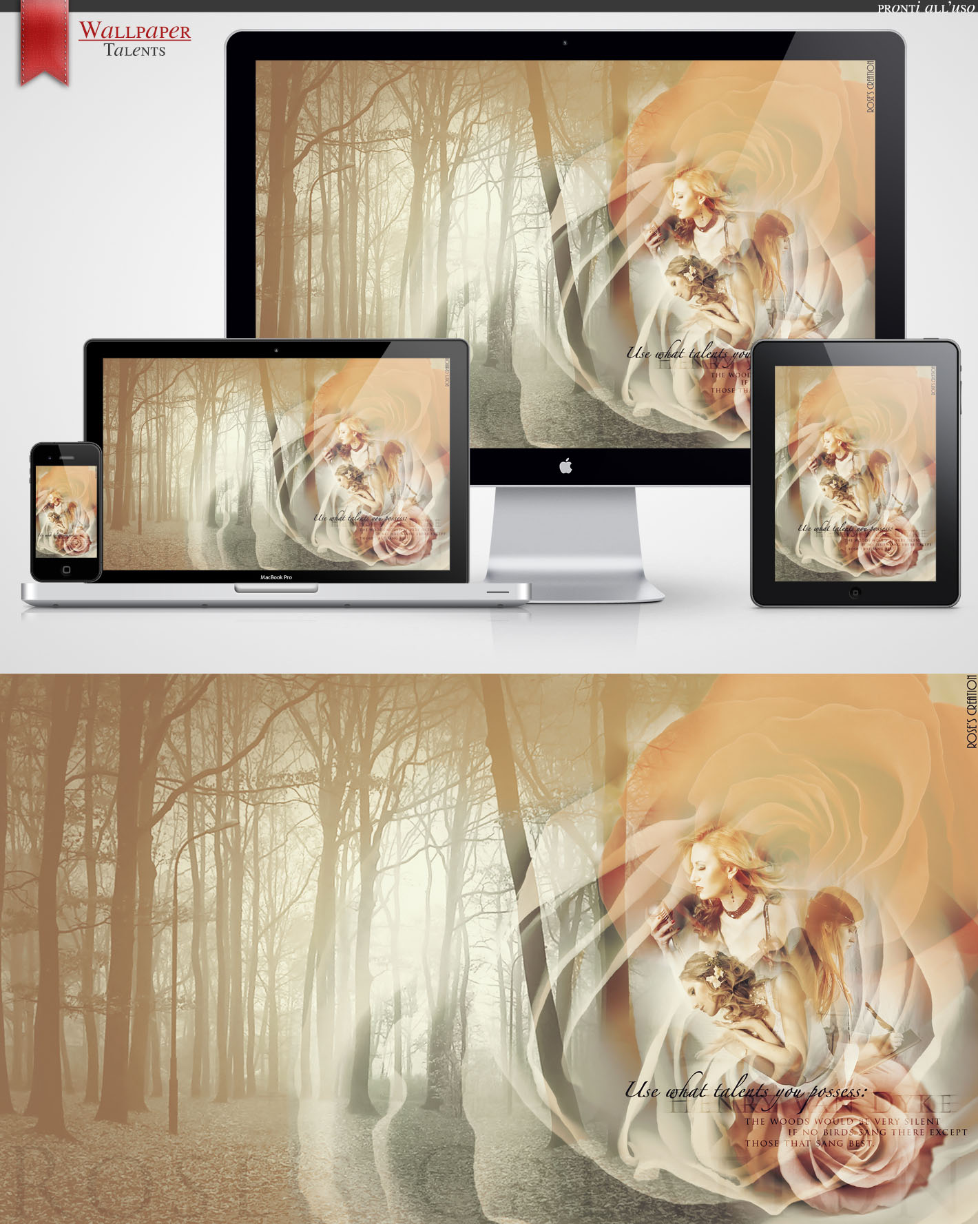 Wallpaper Pack - Talents byRosesCreation by dreamswoman