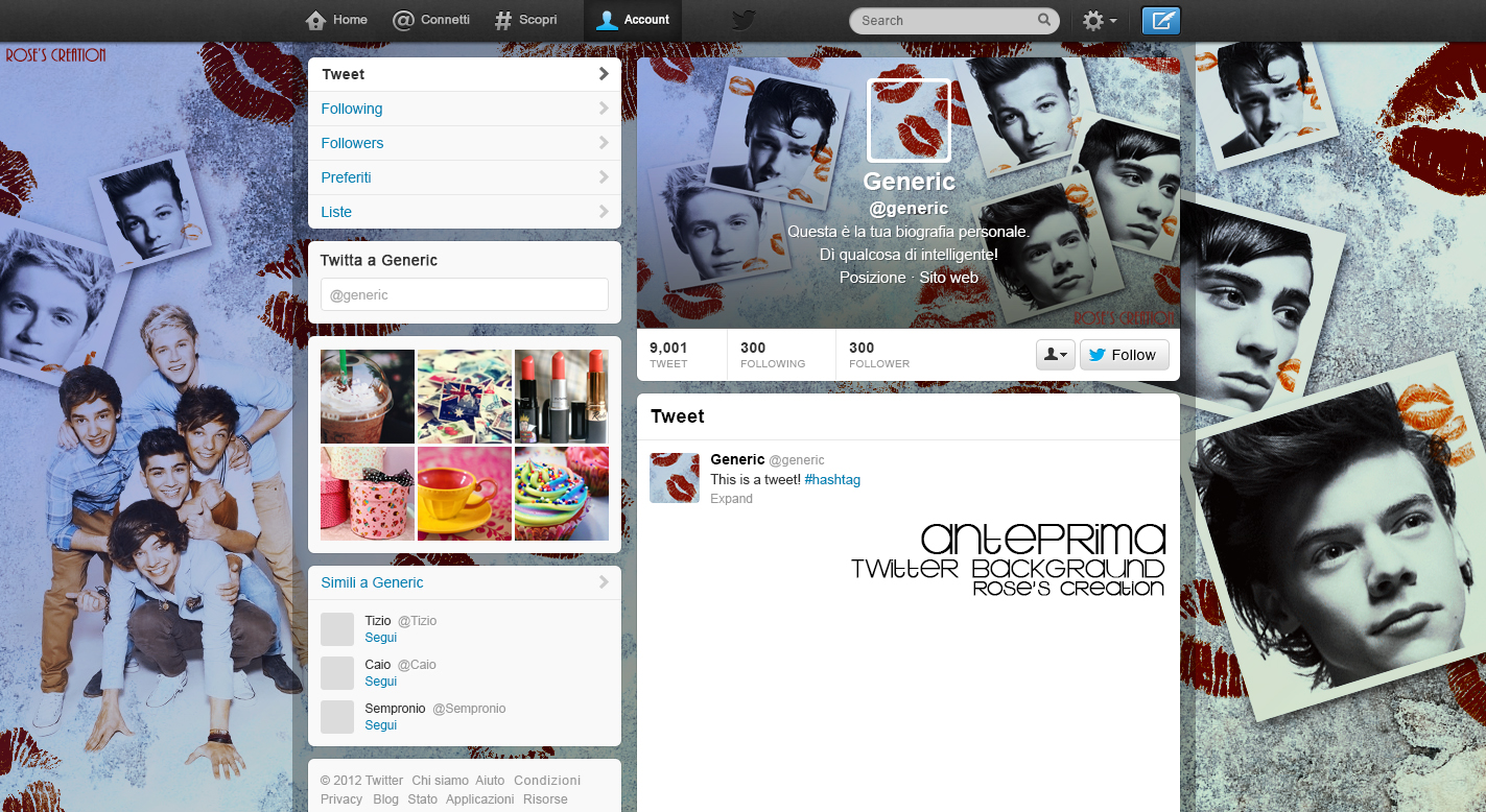 One Direction Twitter