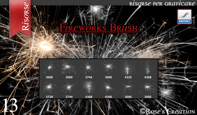 Fireworks Brush by dreamswoman