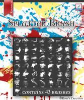 Splatter Brush by dreamswoman