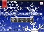 Vector Snowflakes Brush