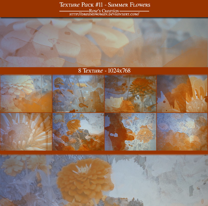 Texture Pack #11 - Summer Flowers by dreamswoman