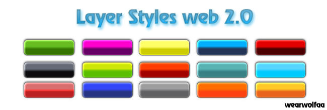 Layer Styles Web 2.0 by Wearwolfaa