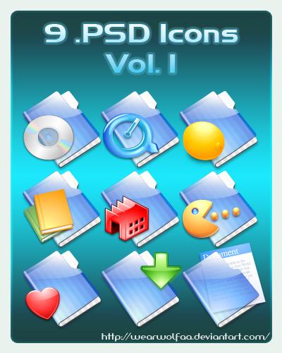9 .PSD Icons Vol. 1