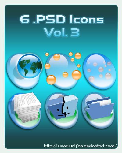 6 .PSD Icons Vol. 3 by Wearwolfaa