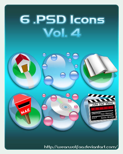 6 .PSD Icons Vol. 4 by Wearwolfaa