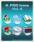 6 .PSD Icons Vol. 4