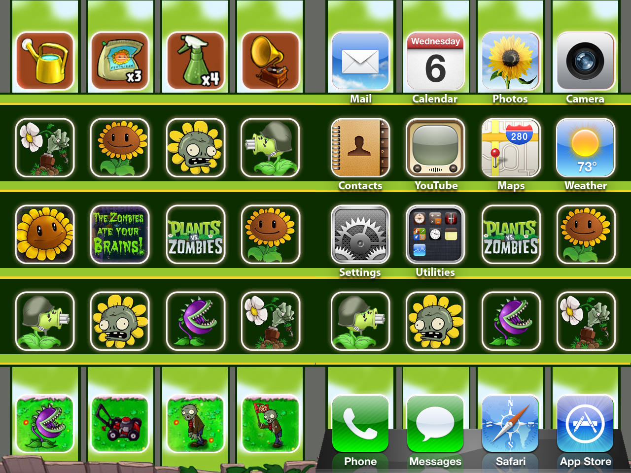 IPod IPhone PvZ Wallpaper By ChrisssG