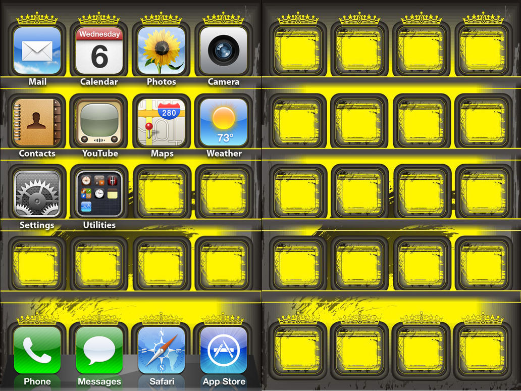 IPod IPhone Yellow Wallpaper By ChrisssG