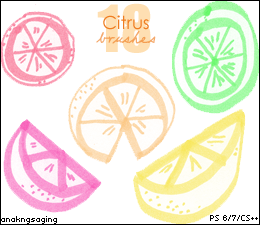 Citrus Brushes by deesturbed