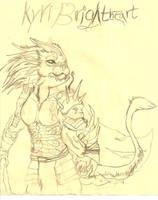 Kyri Brightheart sketch by kyrisnowpaw