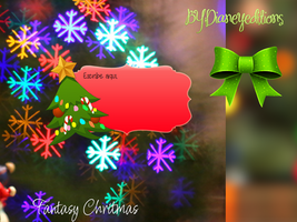 Fantasy chritmas//block de notas para Xwidget by Dianeyeditions