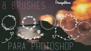 8 Brushes dianeyeditions para photoshop