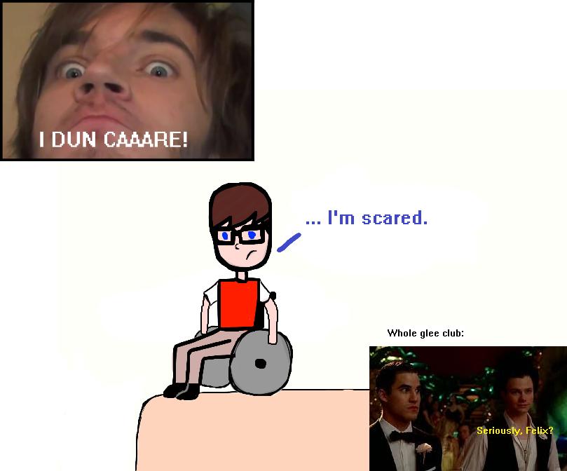 PewDiePie/Glee crossover by Sugerpie56