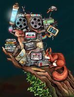 Music squirrel Animation by kiriOkami