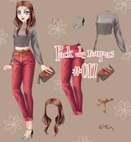 Pack de roupas #17 by Unnieverso