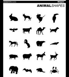 20 Animal Shapes for Photoshop