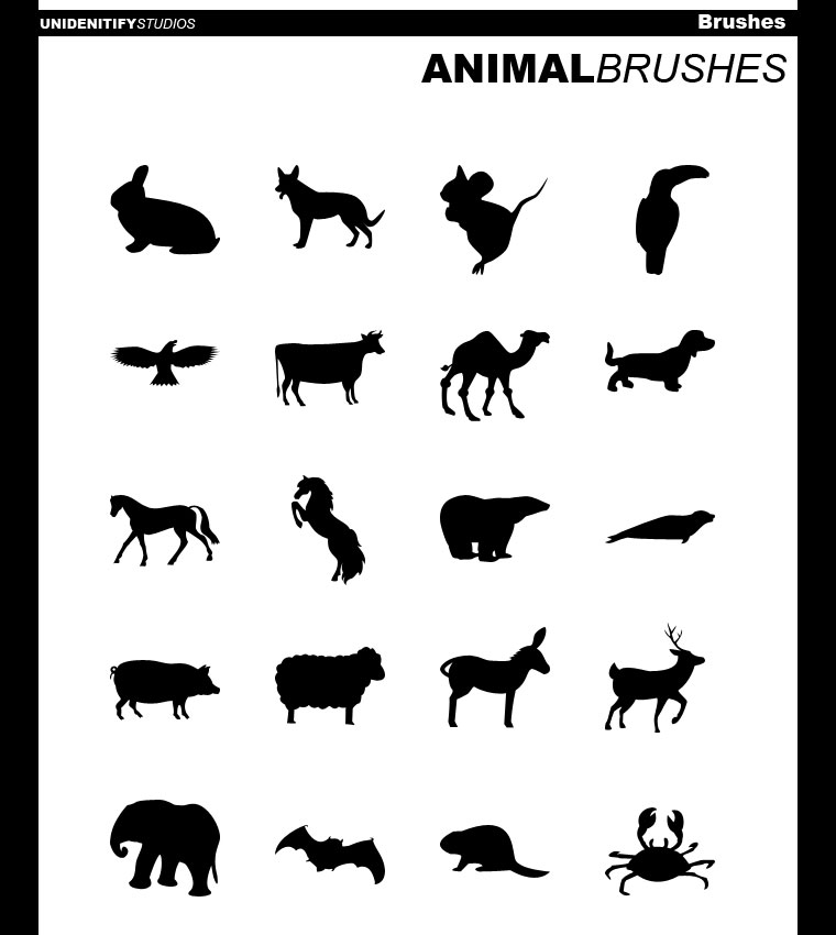 20 Animal Brushes for PS