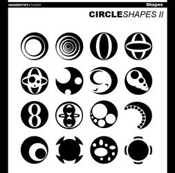 Circle Shapes II for Photoshop