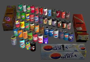 OBJ - Canned soft drink megapack for XPS (REM) by DigitalExplorations