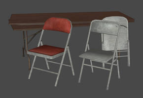 Folding Table and Chairs Pack XPS+OBJ (L4D2) by DigitalExplorations