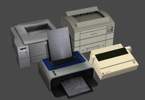 Computer Printers Pack by DigitalExplorations