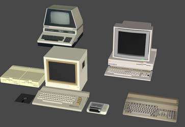 Commodore Computer Vintage PC Pack by DigitalExplorations