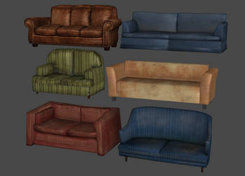 Couches and Love Seats Pack by DigitalExplorations