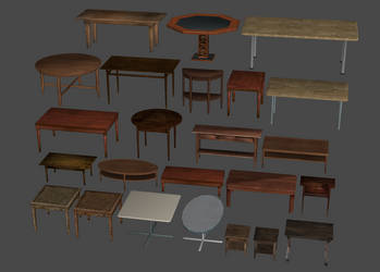 Tables Large and Small Pack by DigitalExplorations