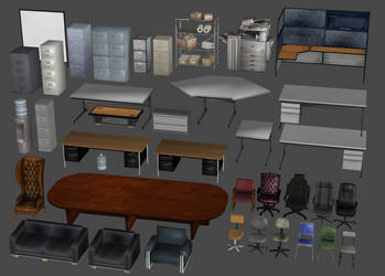 Office Furniture Pack by DigitalExplorations