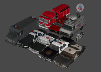 Emergency Services Vehicle Pack by DigitalExplorations