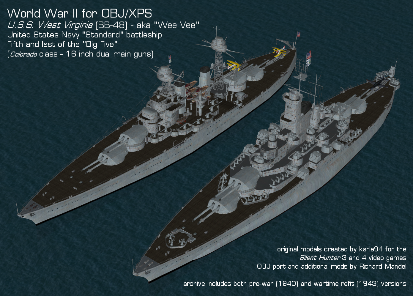 USS West Virginia BB-48 (SH4 K94 REM custom) by