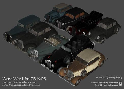World War II German Civilian Vehicles Pack