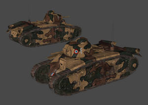 Renault Char B1 heavy tank (Pack 3D)