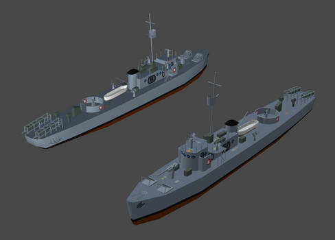 USN - PC-461 series subchaser (CFS2)
