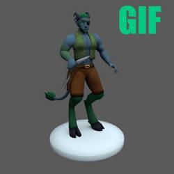 Qvajangel 3D Character: Jingro