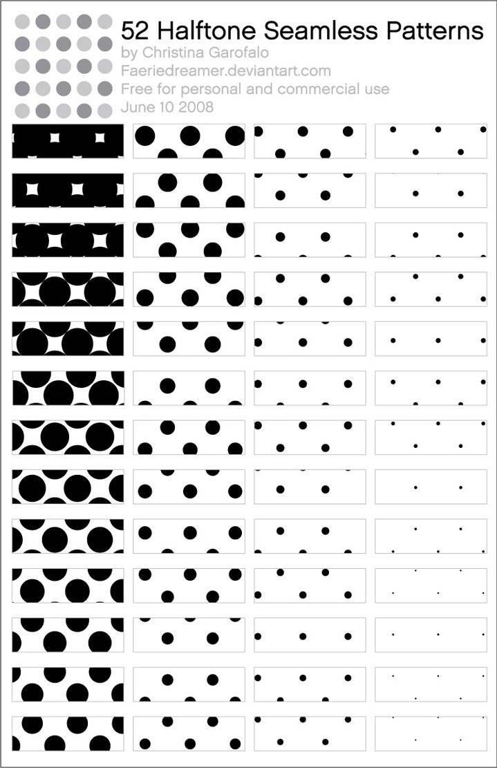 52 Halftone Patterns by Faeriedreamer on DeviantArt